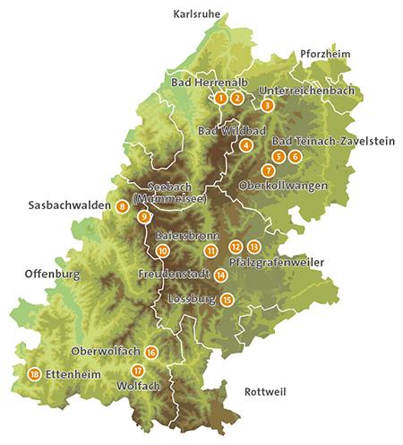 Nordschwarzwald Karte.Naturpark Schwarzwald Mitte Nord E V Regional Genießen