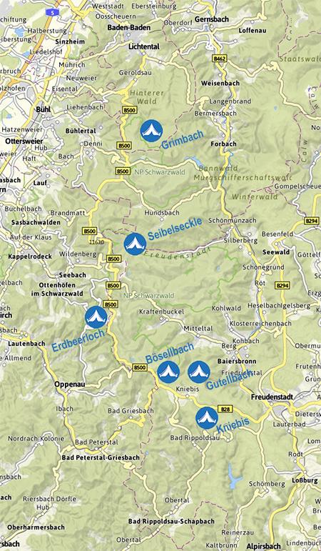 Nordschwarzwald Karte.Naturpark Schwarzwald Mitte Nord E V Aktiv Unterwegs Trekking